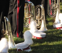 College hosting High School Marching Band Festival
