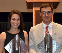 Heckman, Bini honored as Sportswoman, Sportsman of the Year