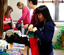 Campus community reaches out at Christmas time