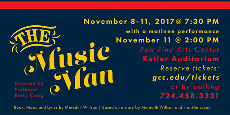 'The Music Man' coming to Grove City College stage