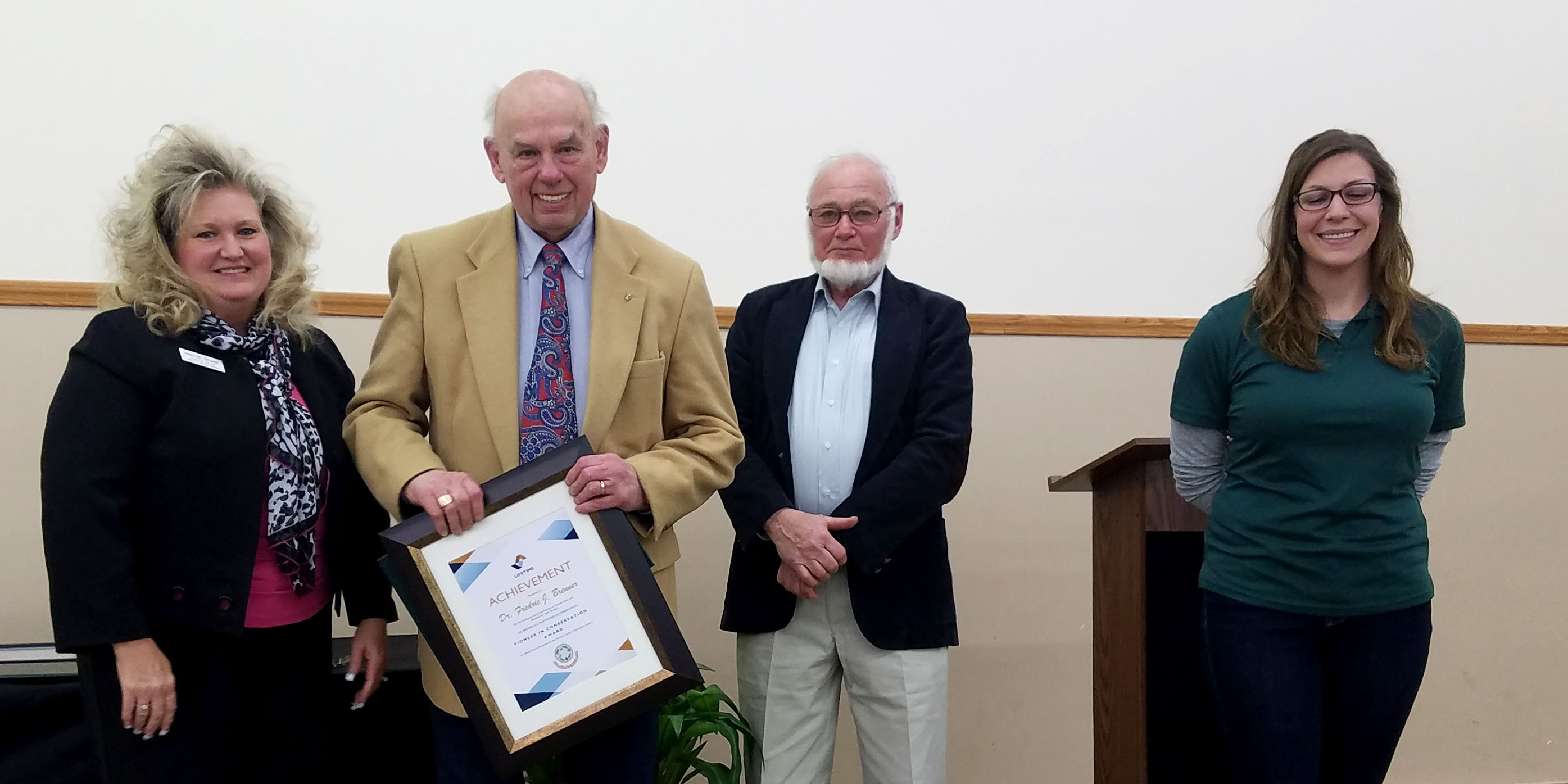 Brenner, Arkwright honored as Pioneers in Conservation