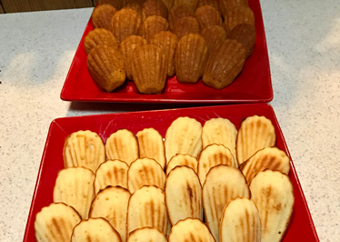 French Club event — baking Madeleines