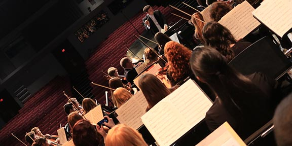 Winter concert features College talent, high school musicians