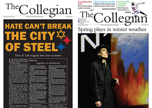 The Collegian wins first place Student Keystone Press Awards