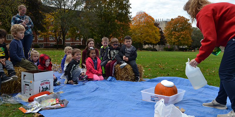 Early Education Center brings the pumpkin patch to campus